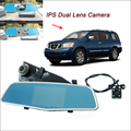 "Car front Mirror DVR For nissan ARMADA Rearview Driving Video Recorder FHD 1080P Dual lens Novatek 96655 5"" IPS Screen dash cam"