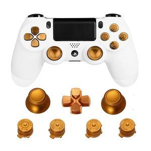Image 4 - Metalen Duimgrepen Voor PS4 Controller Aluminium Vervanging Abxy Bullet Knoppen Duimknoppen Chrome D Pad Voor Sony Playstation 4