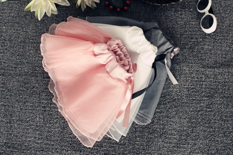 2016 New Arrival Kids Pleated Skirt Half-length Organza Veil Sweet Girl Tutu Skirt On Sale (4)
