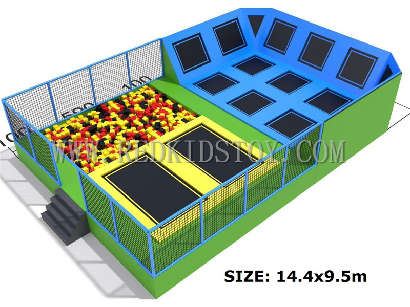 Eksportowane do rosji duża trampolina z certyfikatem CE duży kryty trampolina dla dzieci, jak i dorosłych HZ-042A
