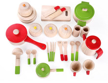 New Wooden Baby Toys Kitchen Set Simulation Gifts