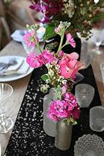 B·Y 30x180cm 30x275cm Black Gold Silver Sequin table runner for Party Tablecloth Weddings Decoration Table Runners