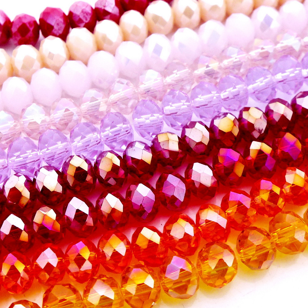 AB color 2/3/4/6/8/10/12mm 5040 crystal rondelle glass beads special diy jewerly all size wholesale quality free shipping-6 2 10 8 10 1 6 50010