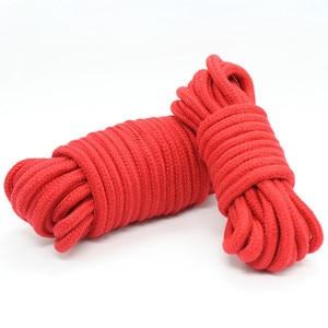 Image 5 - 5 m 10 m מין כותנה שעבוד איפוק חבל Slave Roleplay צעצועי לזוגות משחקים למבוגרים מוצרים Shibari כובל פטיש harnes