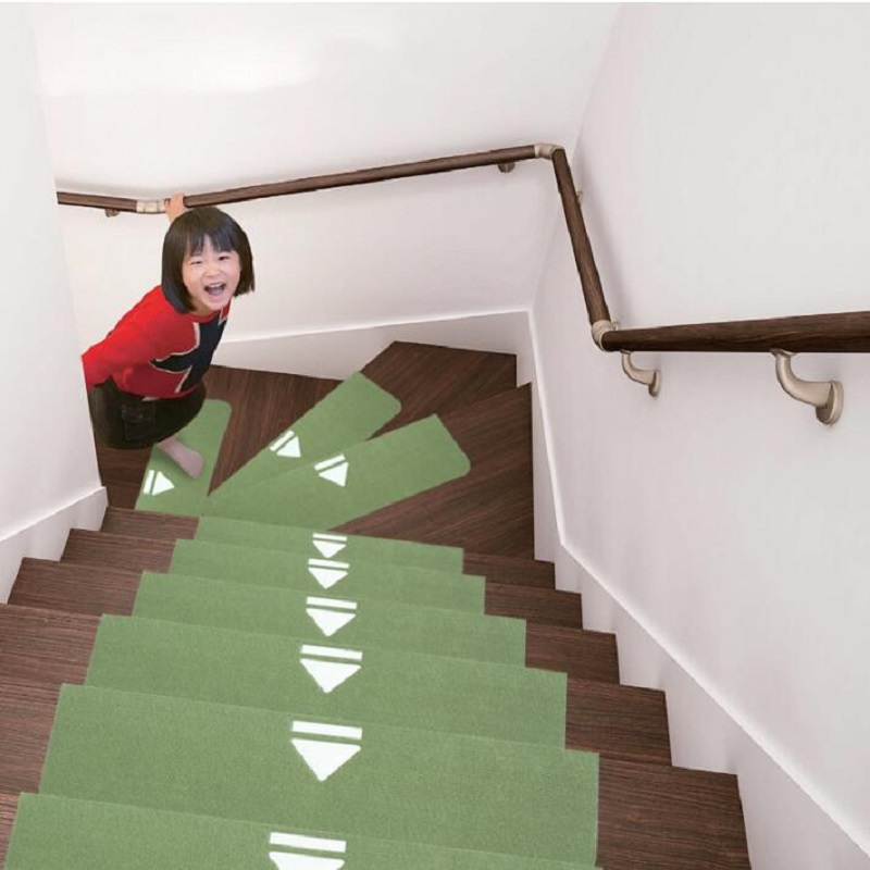 UBRUSH New carpet Luminous Polypropylene anty-slip For Stairs Three color Striped For Home 55*20.5 cm Carpet