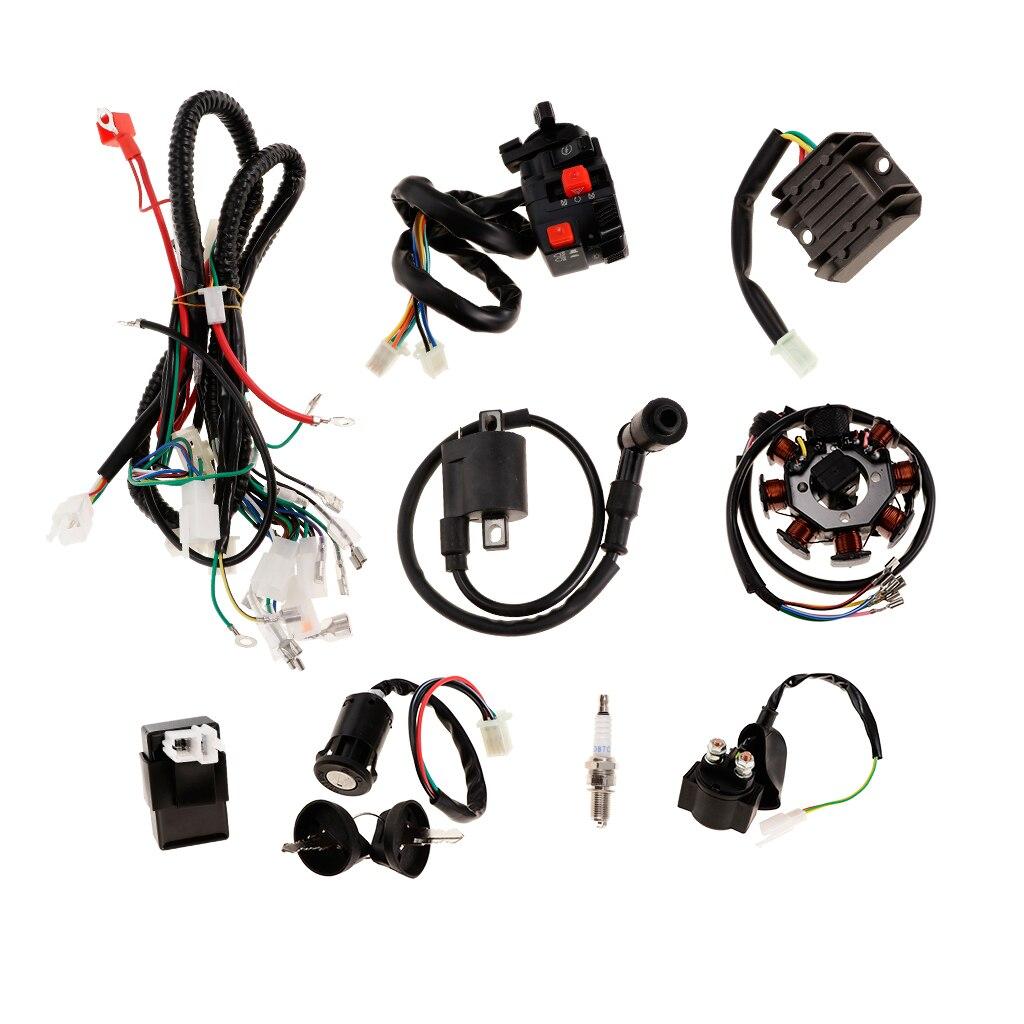 COMPLETE ELECTRICS For ATV QUAD 150CC 200CC 250CC CDI COIL WIRING HARNESS|ATV  Parts & Accessories| - AliExpressAliExpress