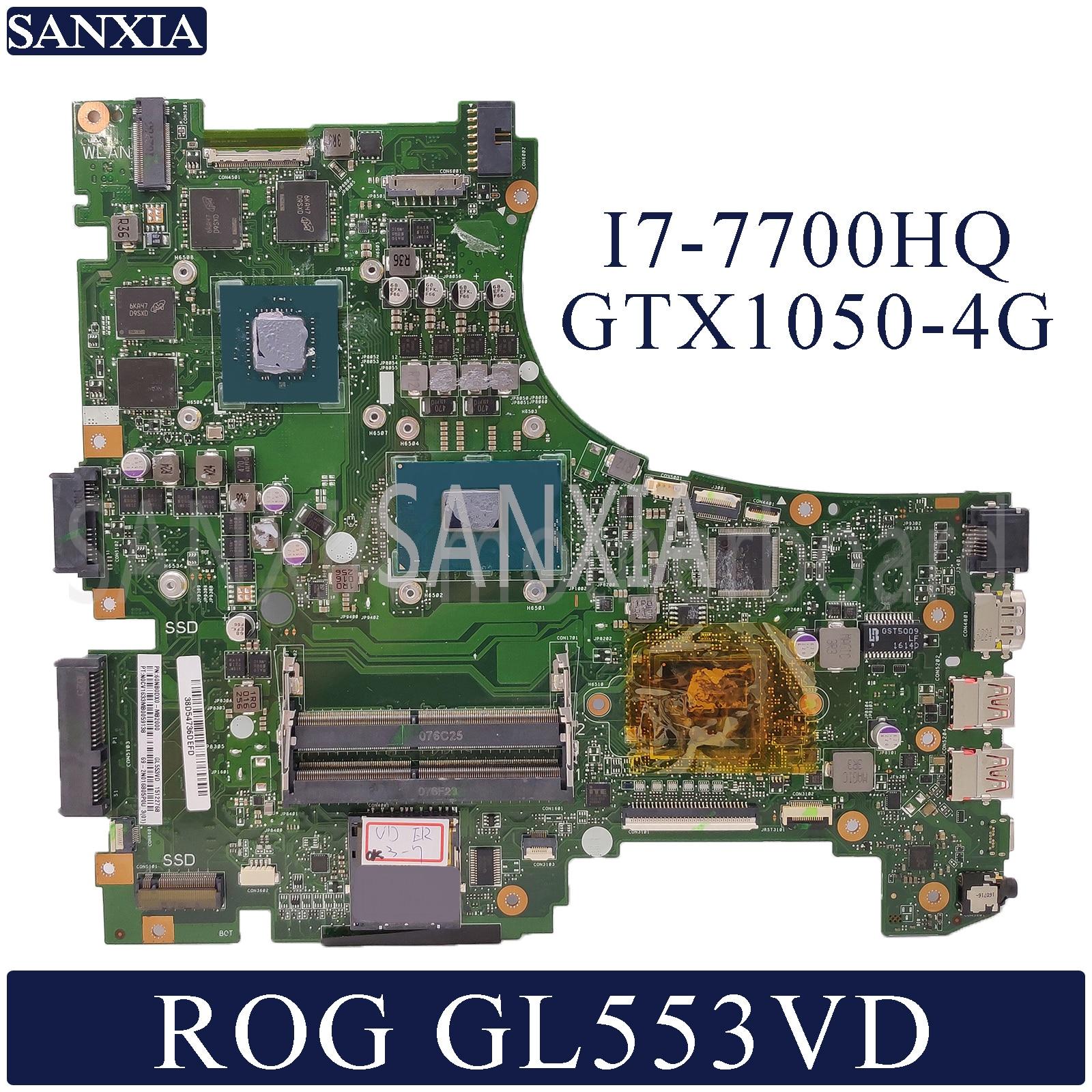 KEFU GL553VD scheda madre Del Computer Portatile per ASUS ROG GL553VD FX53VD ZX53V GL553VW Prova mainboard originale I7-7700HQ GTX1050-4G