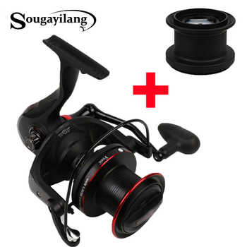 Sougayilang 10000 Carp Fishing Reel with Spare Spool 4.1:1 Gear Ratio Surf Casting Reel 13+1BB Long Shot Fishing Spinning Reel - DISCOUNT ITEM  48% OFF Sports & Entertainment