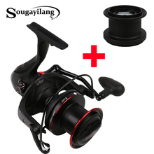 Sougayilang 10000 Carp Fishing Reel with Spare Spool 4.1:1 Gear Ratio Surf Casting Reel 13+1BB Long Shot Fishing Spinning Reel