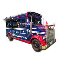 5.0m length can be customized food cart food car food trailer