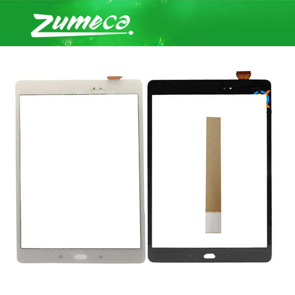 9.7Inch For Samsung Galaxy Tab A P551 <font><b>P555</b></font> SM-<font><b>P555</b></font> SM-P550 SM-P551 Samsung P550 Touch Screen Digitizer Lens Glass 2 Color+Tape image