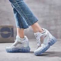 Comparar SWYIVY malla Casual Zapatos mujer Zapatillas plataforma 2019 nuevo otoño transpirable cuñas zapatos para mujer sólido