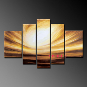 Hand Painted Picture On Canvas Abstract Oil Painting Handmade Wall Decor Art Light Groups Of Pictures for Living Room Decorative