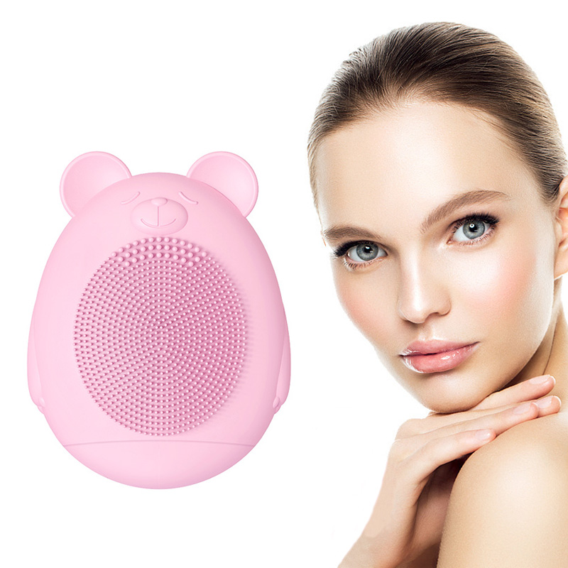 Electric Silicone Sonic Facial Cleanser Waterproof Facial Cleaning Washing Machine Skin Pores Cleaner Vibration Massaging BrushElectric Silicone Sonic Facial Cleanser Waterproof Facial Cleaning Washing Machine Skin Pores Cleaner Vibration Massaging Brush