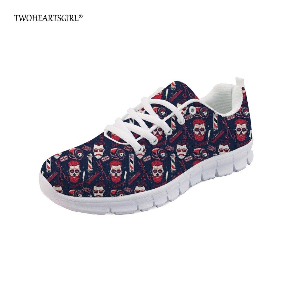 Chaussures Mesh Barber De Twoheartsgirl La Image Léger up Cool z2713aq Casual Appartements Custom Sneakers Mode Dentelle Féminine Crâne Dames Lac Respirant Jusqu'à WrWxnACqw
