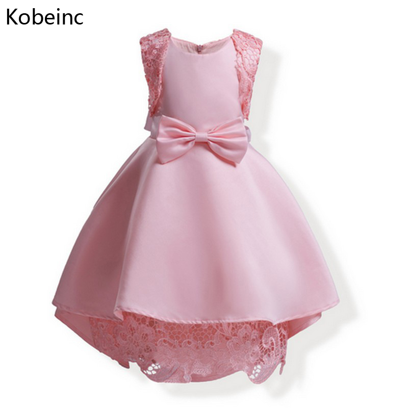 Kobeinc New Year's Products Dress For Girl Spring Autumn Kids Dresses For Girls Solid Bow Baby Clothes Roupas Infantis Menina платье для девочек hello kitty dress girl dress girl party dress girls dresses 2015 vestidos infantis 1 zz3038 baby girls dress girls dress kids clothes dress for girls