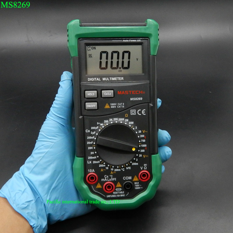 Mastech MS8269 Digital Multimeter 3 1/2 LCR Meter AC/DC Voltage Current Resistance Capacitance Temperature Inductance Tester auto range handheld 3 3 4 digital multimeter mastech ms8239c ac dc voltage current capacitance frequency temperature tester