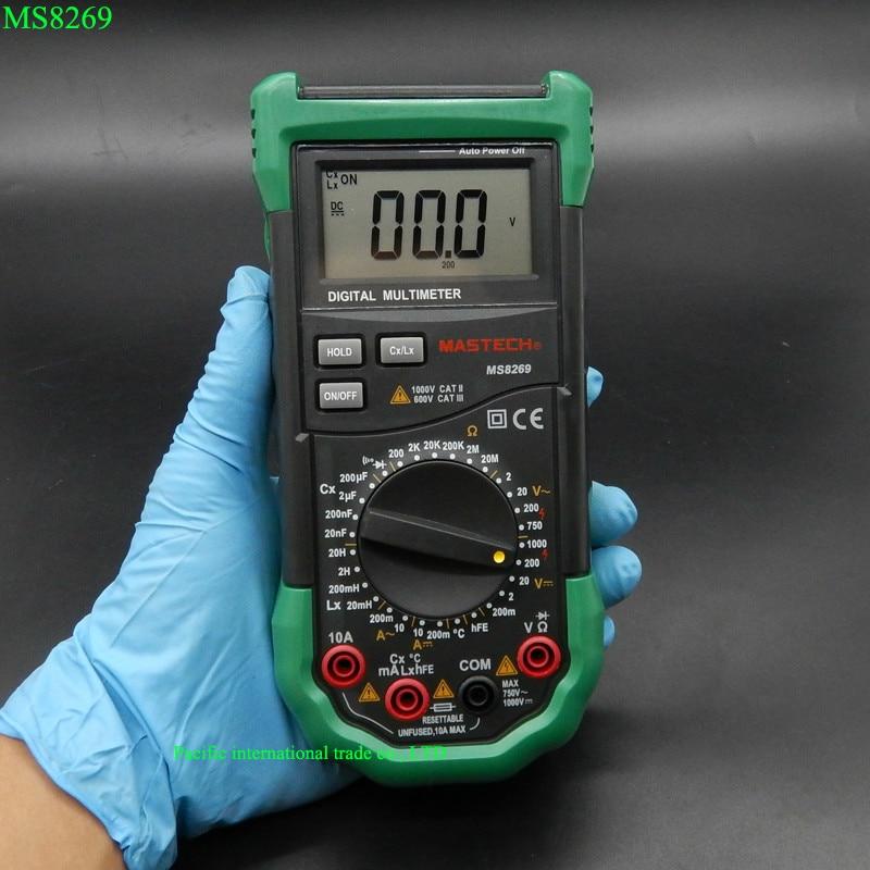 Mastech MS8269 Digital Multimeter 3 <font><b>1</b></font>/<font><b>2</b></font> LCR Meter AC/DC Voltage Current Resistance Capacitance Temperature Inductance Tester