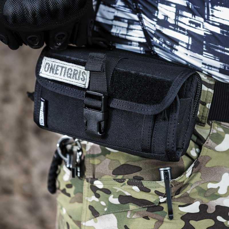 Funda m/óvil con correa para cintur/ón dise/ño militar t/áctico EDC de nailon LefRight