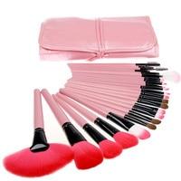 24 pz Rosa nero Trucco Facciale Brush Set Kit di strumenti di Trucco Estetica e Spazzole con il Caso Commercio All'ingrosso Libero di trasporto