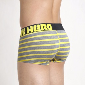 Image 4 - New!5pcs/Lot Pink Heroes Fashion Underwear Men Boxer High quality Cotton Male Panties Striped Underpants Comfortable