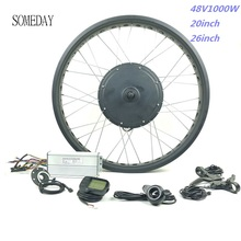 48V 1000W fett ebike kit schnee ebike elektro-fahrrad conversion kit 20 zoll 26 zoll rad hinten drehen hub motor LCD5 display