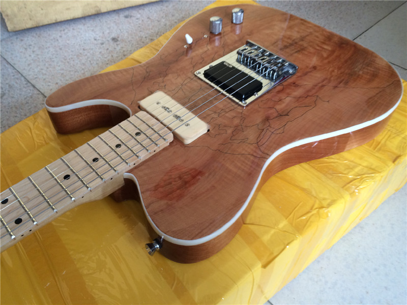 Electric guitar 2016 NEW maple flame top TL guitar/clear color WITH p90 PICKUPS electric guitar/guitar in china new arrival red electric guitar maple top bolt in