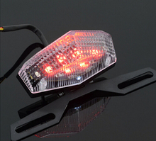 Motorcycle ATV Quad LED License Plate Rear Tail Stop Brake Indicator Light Lamp universal motorcycle accessary