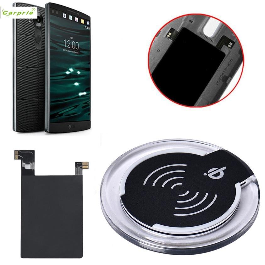 CARPRIE 4 вида цветов Qi Беспроводной Зарядное устройство зарядки Pad + приемник Стикеры Поддержка NFC для <font><b>LG</b></font> <font><b>V10</b></font> сотовом телефоне Зарядное устройство&#8230;