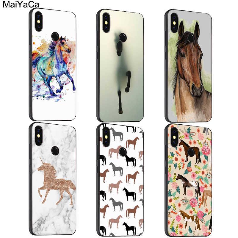 MaiYaCa лошадь пони узор Чехол Для Сяо mi красный mi S2 6 6A 6pro 4X Примечание 5 Pro 5A 7 mi 8 9 6X A2 mi x 2 s Макс 2 3 F1