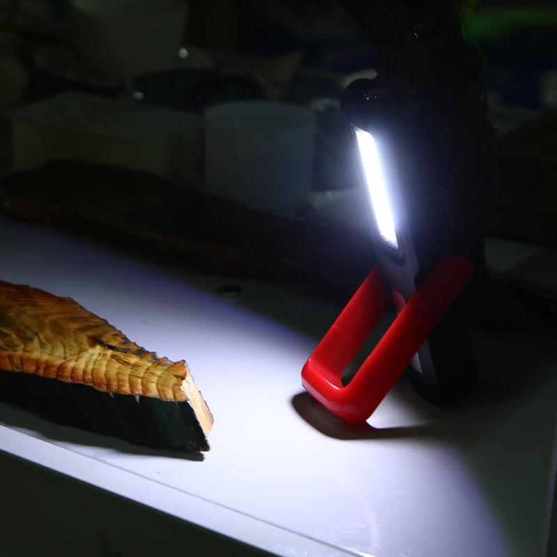 USB Rechargeable Magnetic LED Flashlight COB Work Light Inspection Lamp Hand Torch Magnetic Camping Tent Lantern