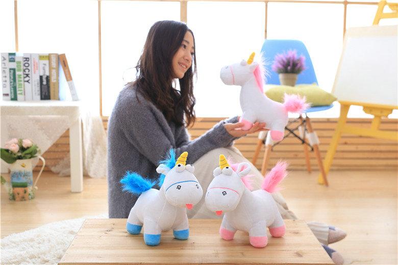 HTB1bNirSXXXXXXAXVXXq6xXFXXXp - Cute pink/blue stuffed PP Cotton Horse doll Christmas present kids doll baby plush toys 30cm Cartoon plush Unicorn toys VOTEE