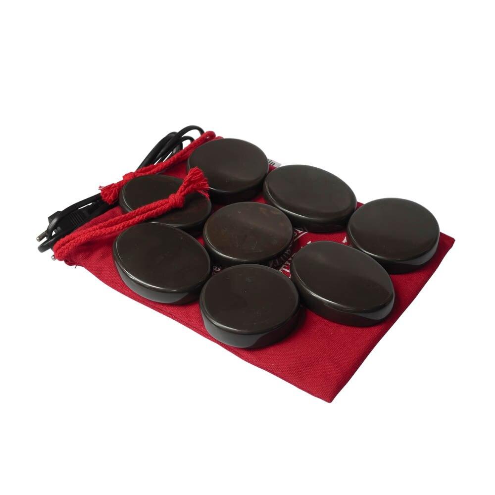 Tontin Hot massage brown color 5A bian stone Beauty Salon SPA tool with 110V & 220V heater bag CE and ROHS 8pcs/set цена