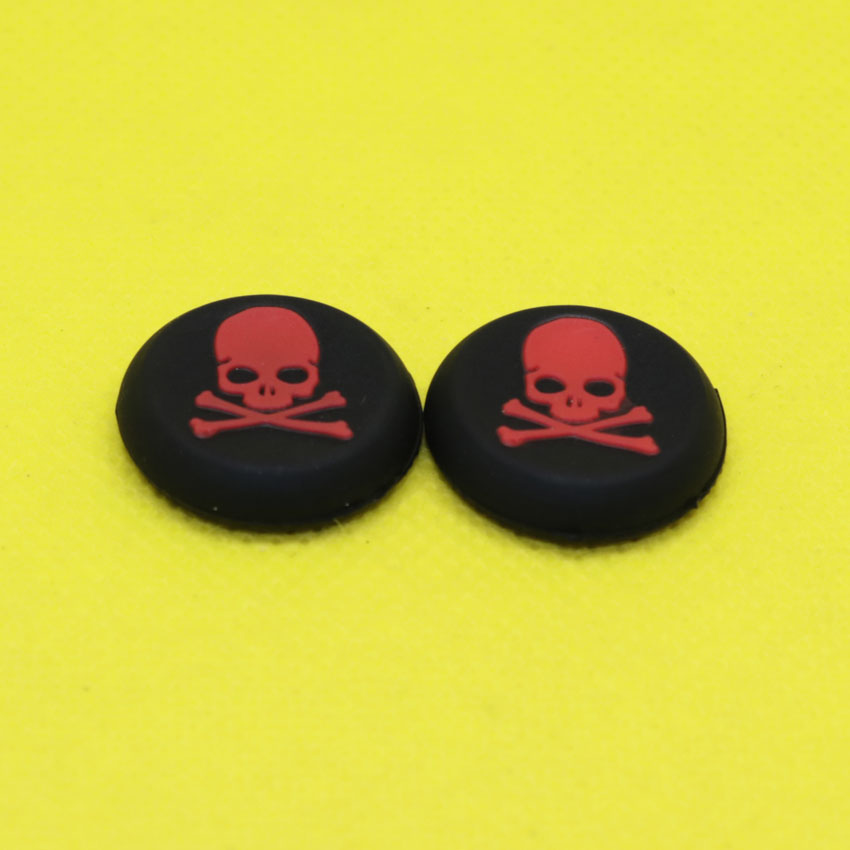 MG121 125   Skull Analog Silicone Joystick Thumbstick Grip Caps For PS4 PS3 XBOX360 XBOX ONE