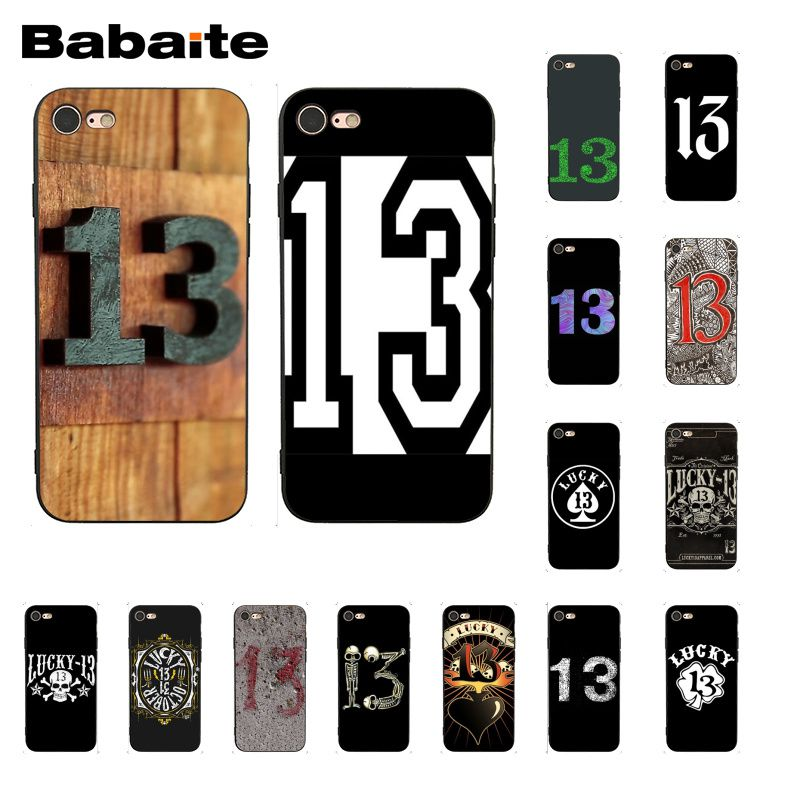 Babaite lucky number 13 Phone case for iphone 11 Pro 11Pro Max 6S 6plus 7 7plus 8 8Plus X Xs MAX 5 5S XR image