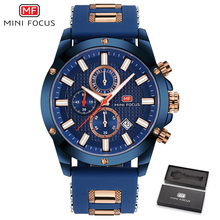 MINIFOCUS мужские s часы Топ люксовый бренд аналоговые Кварцевые Дата часы хронограф силиконовые спортивные наручные часы для мужчин Relogio Masculino