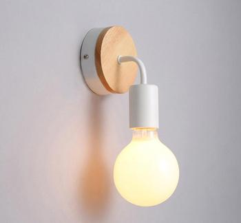北欧 E27 壁ランプホルダー EU 米国のプラグイン現代の寝室のベッドサイドランプ電球ソケット夜の光の通路廊下の壁ライトランプベース