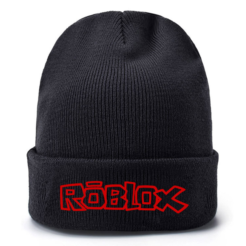 Adjustable Game Roblox Cap Hip-Hop Beanie Knitted Cotton Cartoon Hat Cap Cosplay Costume Unisex Cool Boys Girls Gift brand new women winter beanie cotton caps slouch warm hat festival unisex mens ladies cap solid color hats hip hop style