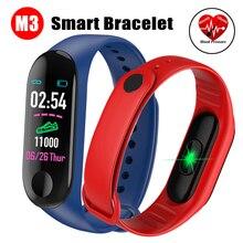 Фитнес браслет кровяное давление спорт ips экран кислородный монитор сердечного ритма умный Браслет M3 IP67 водонепроницаемые умные браслеты