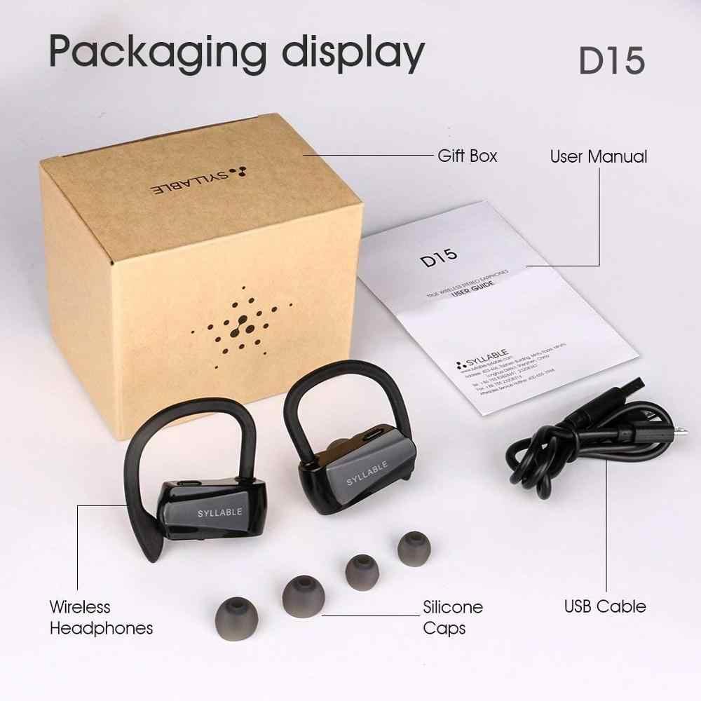 Слог D15 70 мАч гарнитура емкость батареи с двойным микрофоном Громкая связь звонки слог D15 завод дополнительный ушной колпачок USB кабель