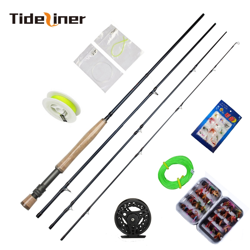 Tideliner Hot sell 2 74m 5 6 fly fishing rod combo fly reel with line lure