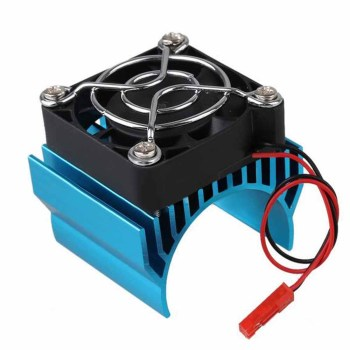540 550 Motor Heat Sink Cover + Cooling Fan Heatsink RC Parts Brushless Aluminum Electric1/10 For HSP Himoto Redcat motor cooling heat sink heatsink top vented 540 545 550 size for 1 10 rc car buggy crawler rc boat hsp hpi wltoys himoto redcat