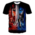 2016 Newest Men Women Fashion T Shirt 3d Graphic Famous Game Film Printing T-shirt Homme Novel Character Polyester Brand Tops