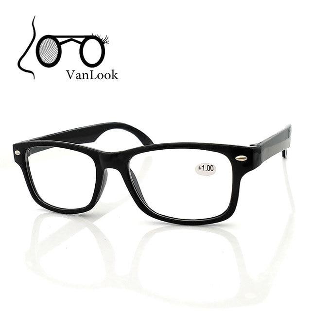 Óculos de leitura Homens Mulheres Oculos de grau Óculos De Vidro Preto para  Hipermetropia + 1.00 916094e431