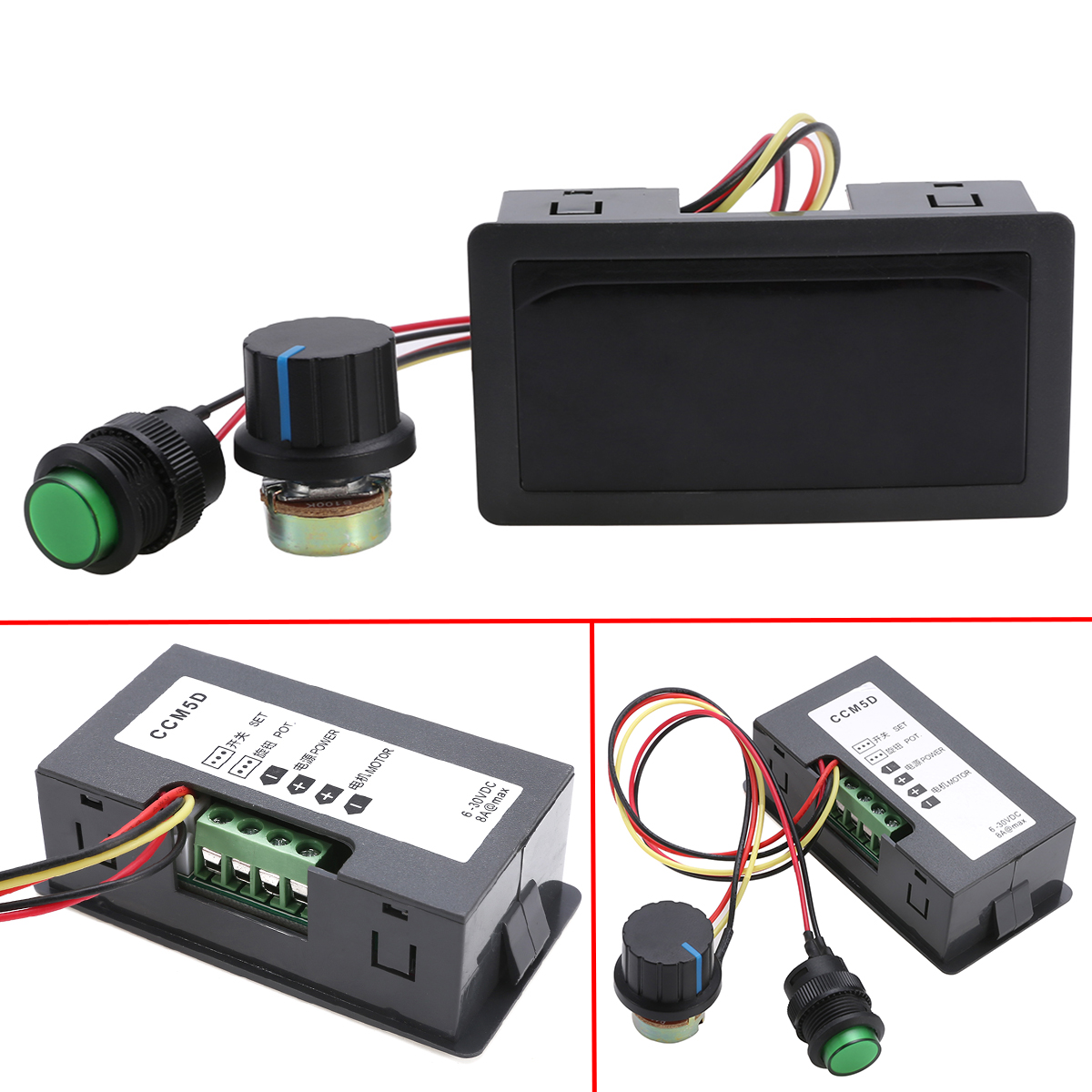 DC 6-30V 12V 24V DC 5A Motor Speed Control Regulator PWM Speed Controller With Digital Display Switch High Power Drive ModuleDC 6-30V 12V 24V DC 5A Motor Speed Control Regulator PWM Speed Controller With Digital Display Switch High Power Drive Module