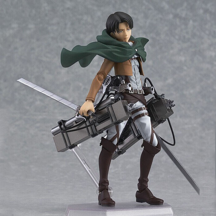 Attack on Titan Shingeki no Kyojin Rivaille Figma 213 Boxed PVC Action Figure Model Collection Toy 6 14CM Free Shipping