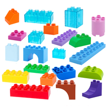 DIY Various Large Particles Building Blocks Swing Dinosaurs Figures Animal Accessories Compatible City Duploingly Toy For Kids