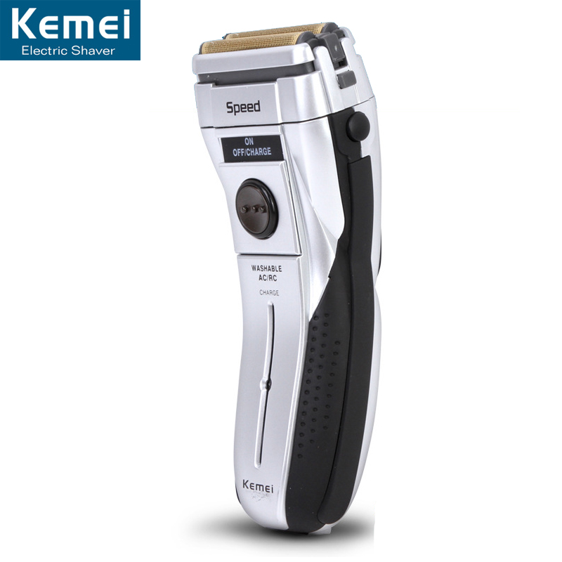 Kemei 1730 Reciprocating Razor Rechargeable Electric Shaver Double Blade Shaving Razors Men Face Care 3D Floating Trimmer kairui rechargeable dual blade shaver razor w trimmer ac 220v