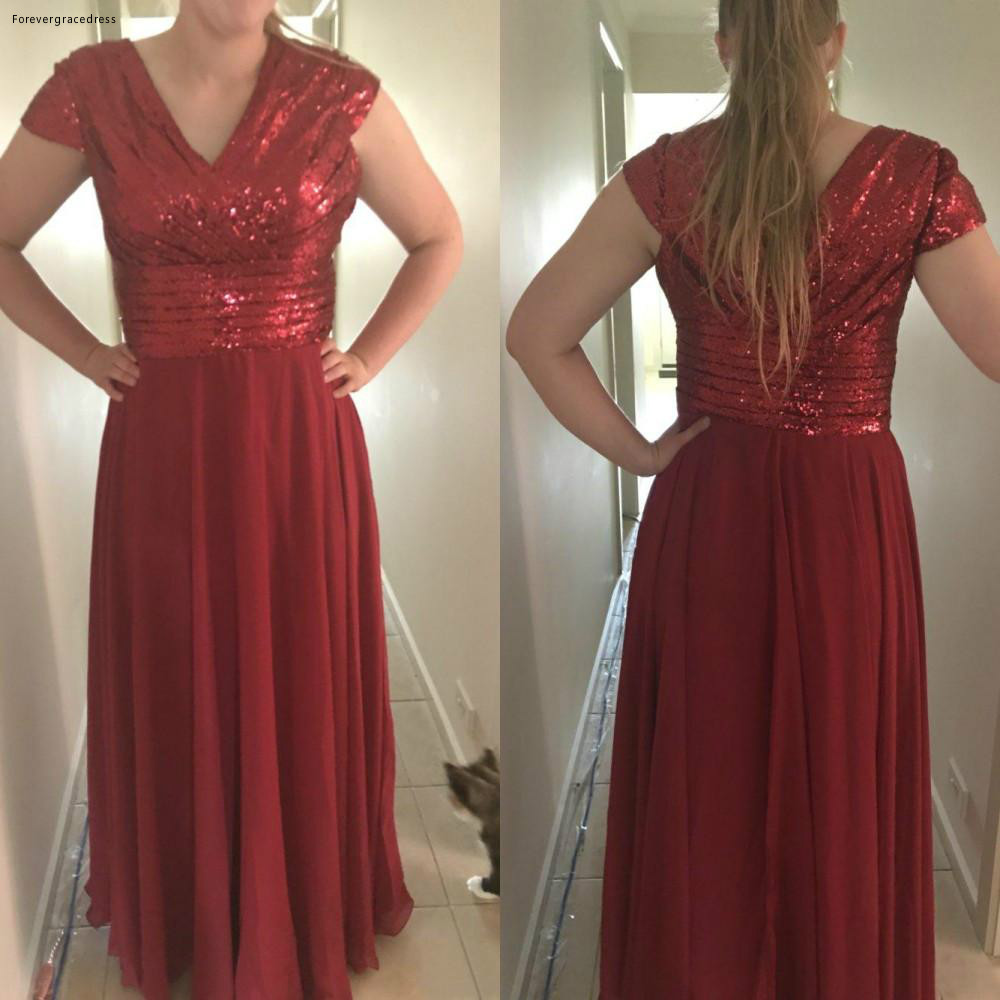 2019 Burgundy African Arabic Bridesmaid Dress Summer Country Garden Formal Wedding Party Guest Maid Of Honor Gown Plus Size