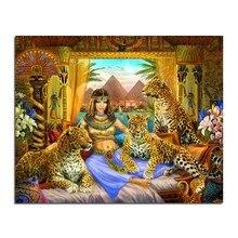 Königin und der leopard DIY quadrat bohrer rhinestone klebte malerei kreuzstich handwerk Hand Diamant Zeichnung